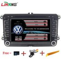 LJHANG 7 Auto audio Car DVD Player For VW Passat B6 Jetta VW T5 Tiguan Octavia Fabia SEAT Leon GOLF GPS Steering Wheel Control
