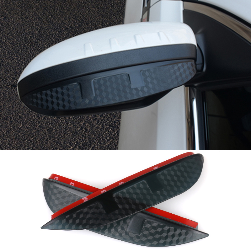 Car Styling Carbon rearview mirror rain eyebrow Rainproof Flexible Blade Protector Accessories For Mitsubishi PAJERO 2008-2012 подвесной унитаз ifo special rp731200100