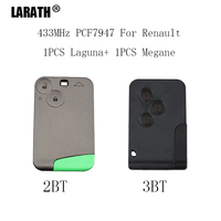 LARATH 2pcs Smart Remote Key PCF7947 Chip 2 Buttons For Renault Laguna 3 Buttons For Renault