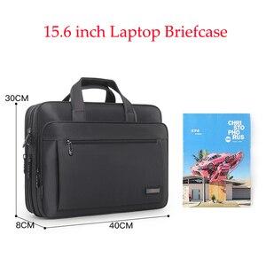 Image 3 - Waterproof Oxford 14 15.6 inch Laptop Briefcase Business Men Handbag Casual Shoulder Bag for Men Fashion Messenger Bag Fashion