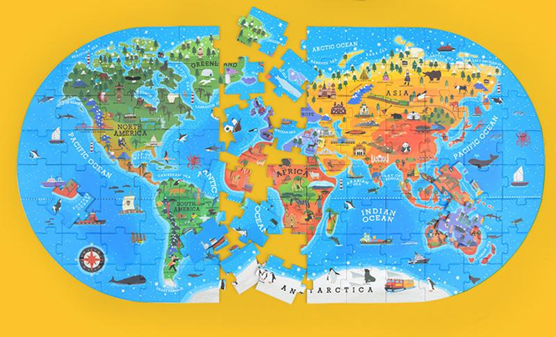 LeadingStar World Map Jigsaw Puzzle Kids Educational Toys Culture ...