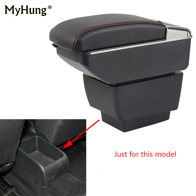 Armrest box For Skoda Octavia A7 2015-2018 Central Console Arm Store With Rise and Down Function content box cup holder ashtray