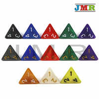 10PCS TRPG D4 Dice for Dungeons & Dragons 4 Sided Games Dices 6 Colors Desktop Polyhedral Set ,as Toy Kit
