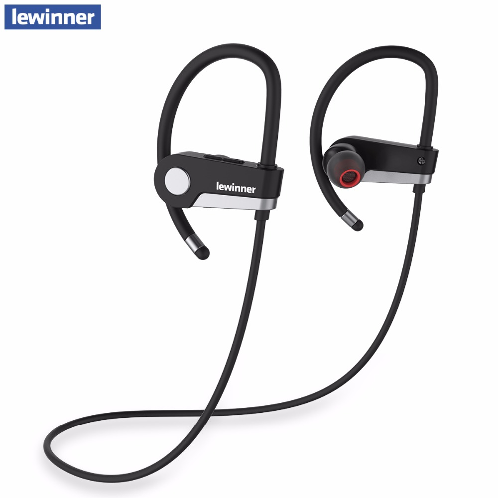 lewinner C6 Bluetooth Headset 4.1 Wireless Earphone Headphone Bluetooth Earpiece Sport Running Stereo Earbuds With Microphone