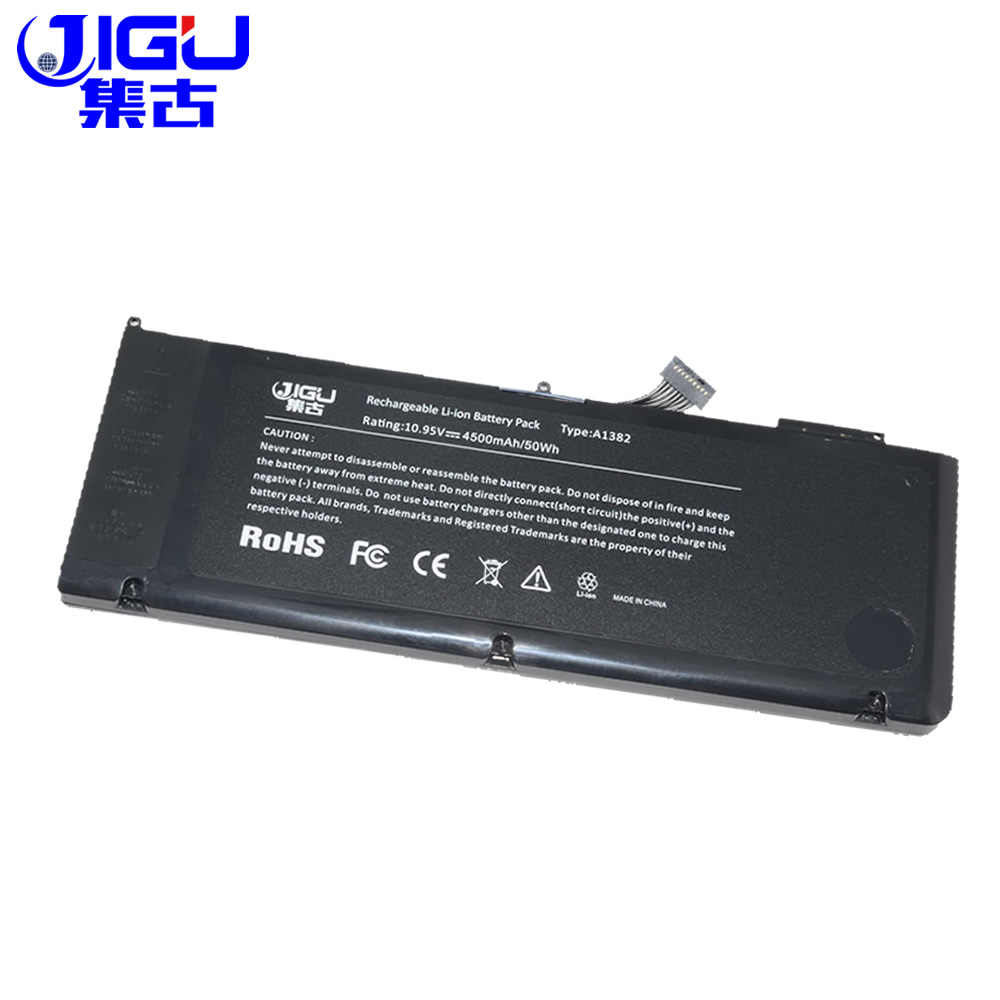 """Jigu [[Đặc Biệt Giá]] Pin Dành Cho Laptop Dành Cho Apple MacBook Pro 15 """"A1286 (Phiên Bản 2009) MB985 MB986 Loạt Thay Thế: A1382 Pin"""