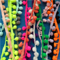 50 Yards 31 colors Tiny Pom Pom Trim(ball size:1.5cm) ,Mini Pom Trim, Tiny ball lace ribbon B073