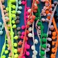 50 Yards 31 colors Tiny Pom Pom Trim(ball size:1.5cm) ,Mini Pom Trim, Tiny ball lace ribbon B073