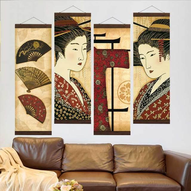 Artryst Japanese Traditional Kimono Geisha Canvas Print Decoration
