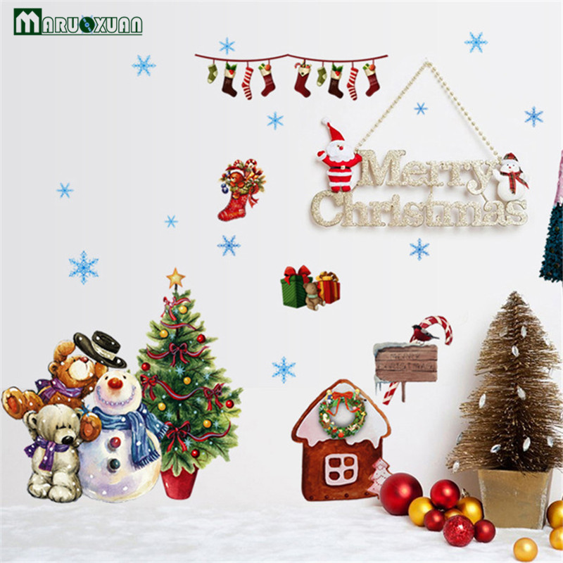 Hot Style Popular Christmas Wall Stickers Wholesale