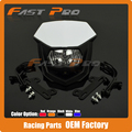 Motorcycle Pit Dirt Bike Motocross Enduro Supermoto Universal Headlights Headlamp StreetFighter For CR YZ RM KX KTM DR Husaberg