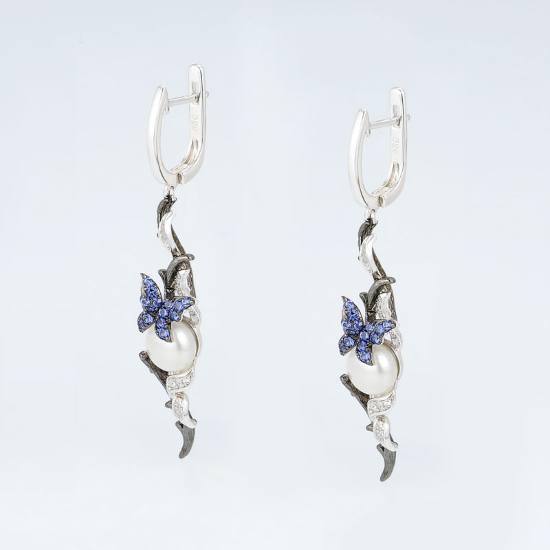 E307634BNFZSV925-SV4-Silver Earrings