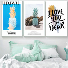 Nordic Art Home Canvas Wall Painting Flower Pineapple Printing Posters Pictures for Living Room AJ00179