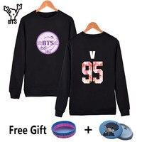 BTS Fourth Anniversary New Style Capless Sweatshirt Men Korean Popular Winter Casual Hoodies Pullover HipHop Fashion