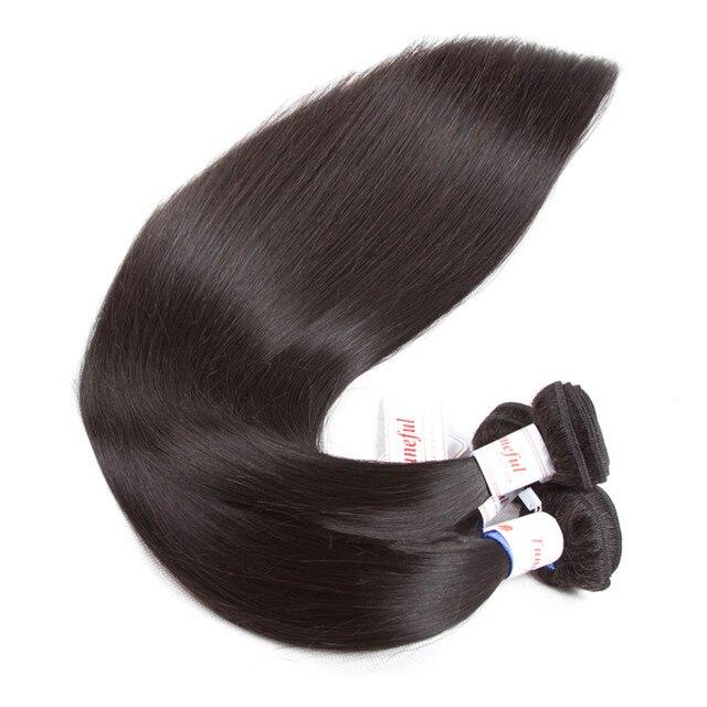 5x5 Closure With Bundles Malaysian Straight Human Hair Bundles With Closure Tuneful Remy Hair Extensions 3 Bundles With Closure
