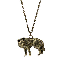 Pendant Necklace Norse Wolf Necklace Original Animal Jewelry Wolf Head Gift for Men Women Girls Boys Male Female Wholesale
