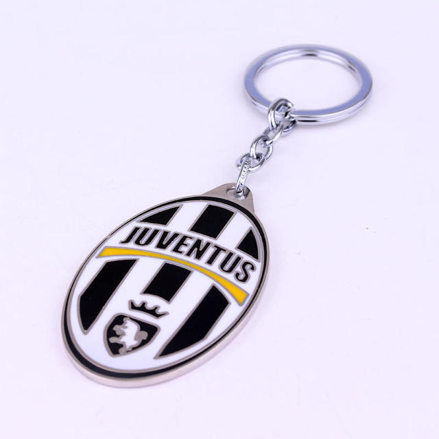 High quality juventus keychains psg football team souvenir key chain a great gift for juventus funs juventus LOGO Key Ring