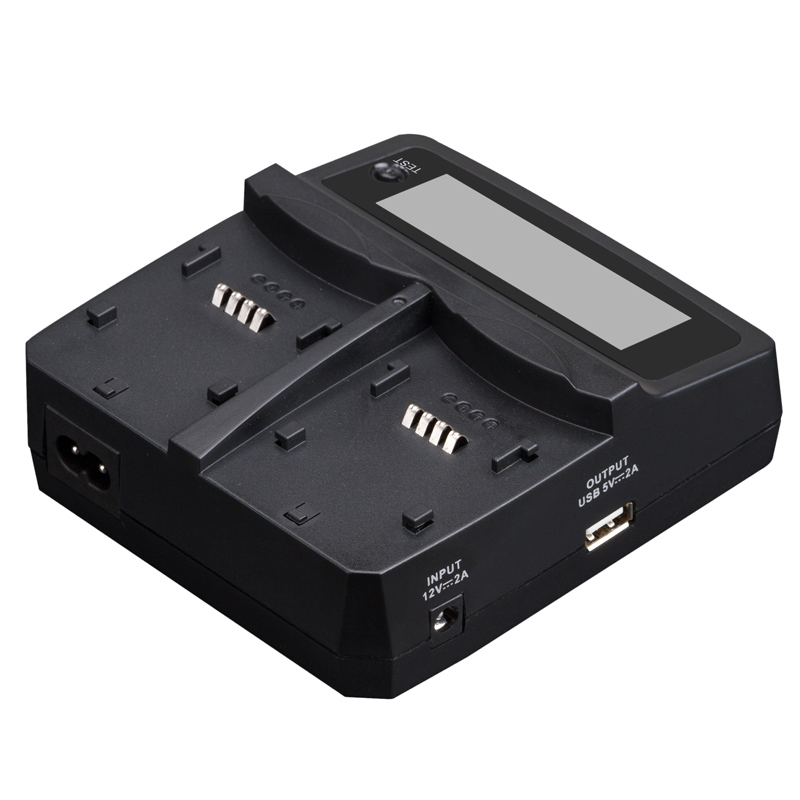 Udoli NP-FW50 NPFW50 NP FW50 Batterie Voiture Chargeur Double avec Port USB Pour Sony NEX-7 NEX-C3 NEX-5N NEX-3 NEX-5 NEX-F3 A37 A55 A33 - 4