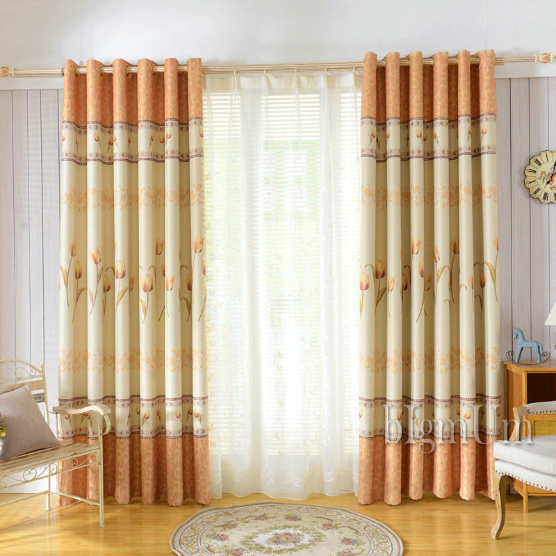 beautiful curtains for living room beautiful pastoral window curtains for living room 18524