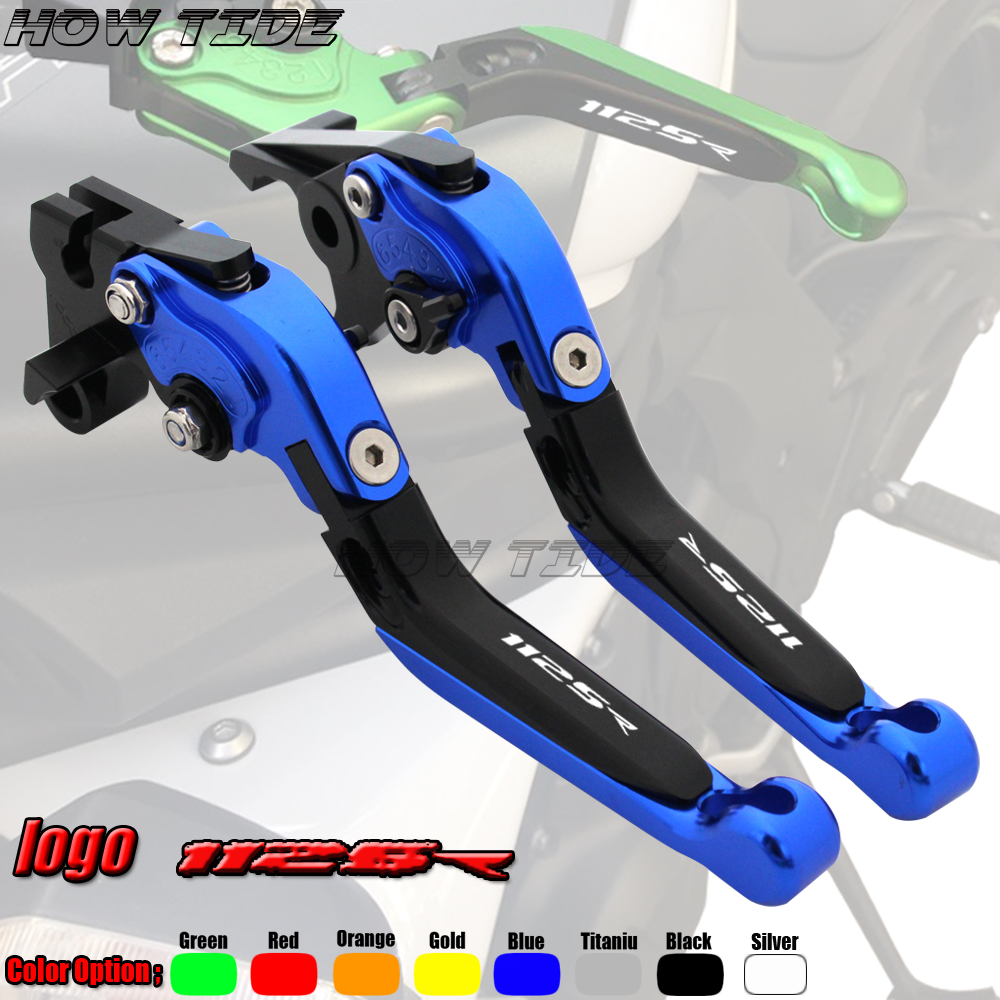 Motorcycle Folding Extendable CNC Moto Adjustable Clutch Brake Levers For <font><b>Buell</b></font> 1125R <font><b>1125</b></font> R 2008 2009 image