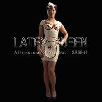 Latex rubber dress medical uniforms