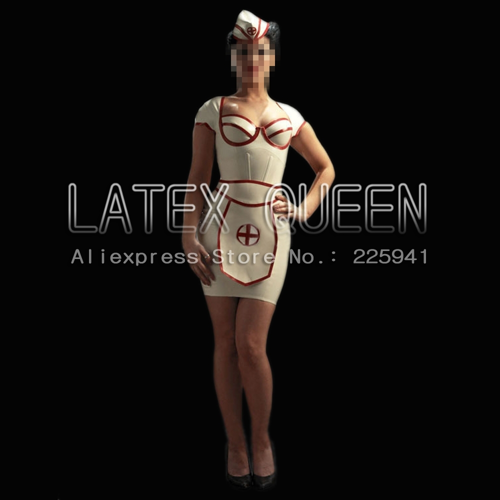 Latex Rubber Dress Medical Uniforms