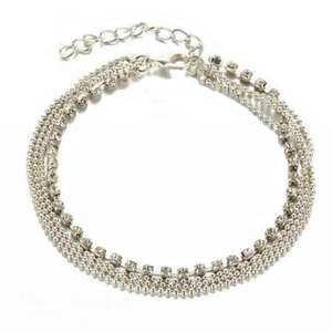 OTOKY Anklet Silver Bracelet Foot-Chain Women Jewelry Multi-Layer Crystal-Ball Trendy
