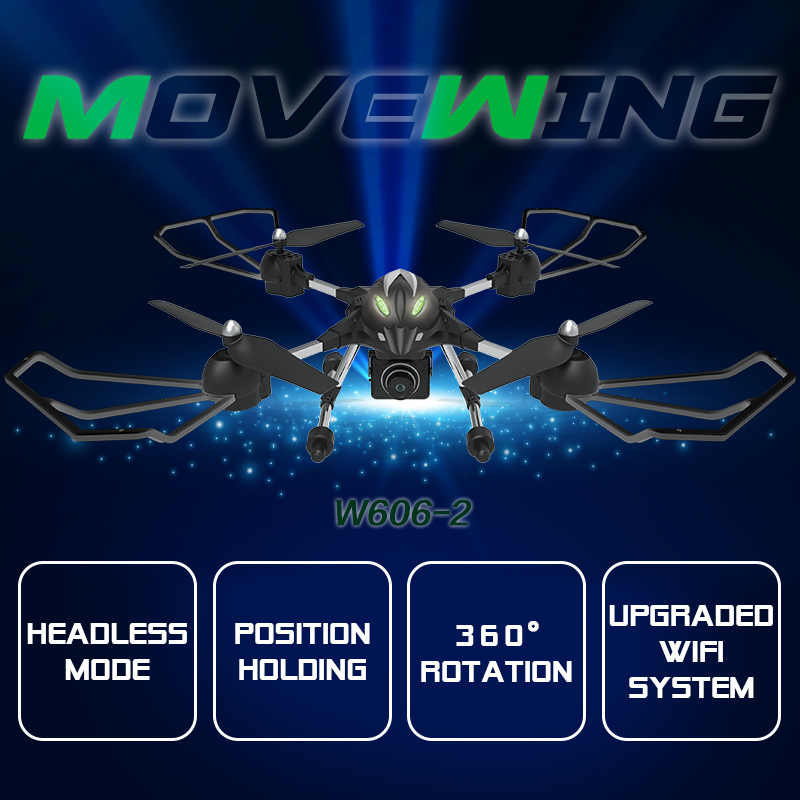 WiFI FPV RC Drone W606-2 4CH 2.4G 4D Roll Remote control helicopter with hd adjustable camera 3D Roll Quadcopter Model Toys gift rc quadcopter drone with camera hd 0 3mp 2mp wifi fpv camera drone remote control helicopter ufo aerial aircraft s6