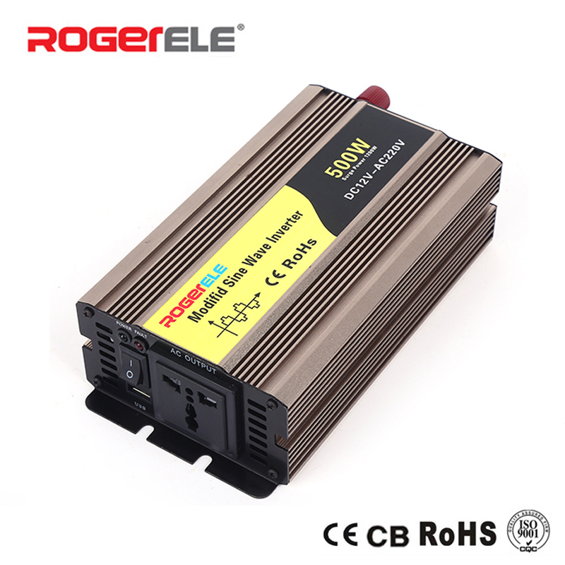 цена на 500W 12VDC/24VDC to 110VAC/220VAC Modified Sine Wave Inverter For Home Application With Solar System