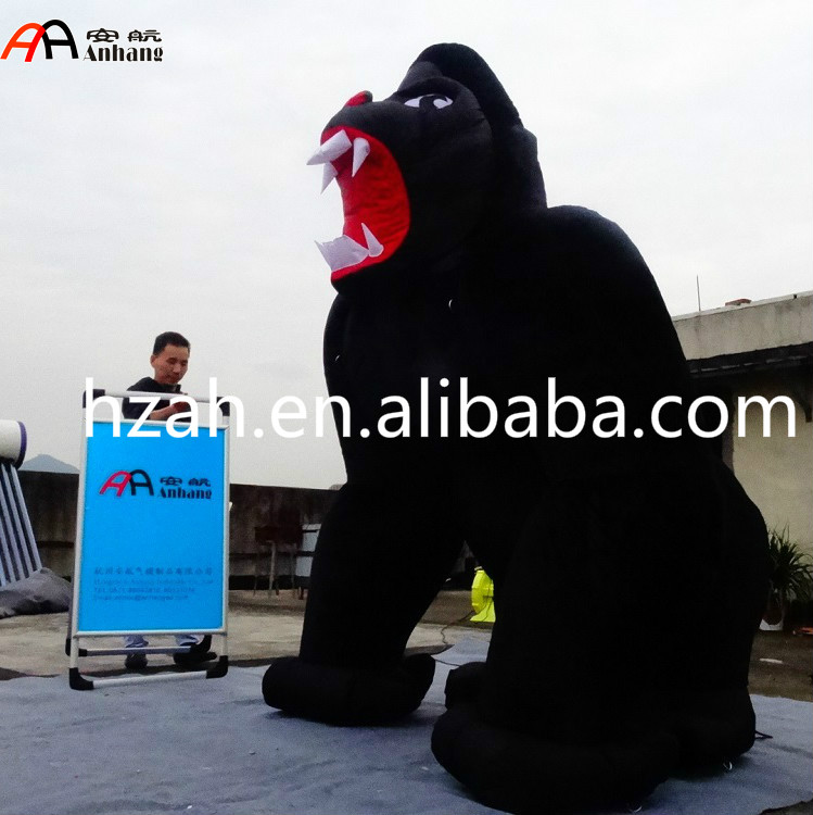 Giant Inflatable Black Gorilla Cartoon for Advertising Decoration giant intrigue 1 2016 black