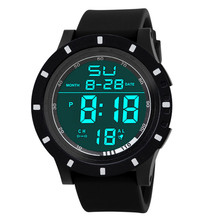 2017 Men's Fashion LED Digital Touch Screen Day Date Silicone Wrist Watch