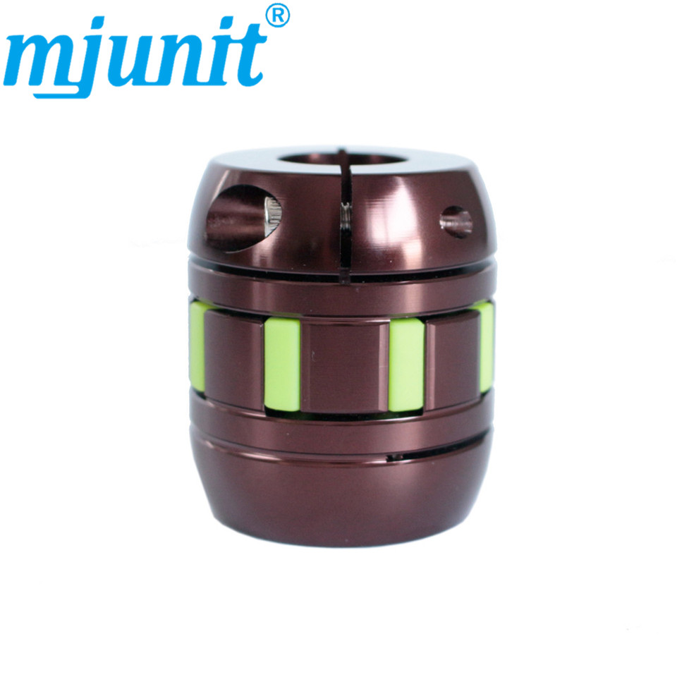 MJUNIT jaw spider plum Flexible Coupler 8mm 10mm 12mm 12.7 14mm 15mm 15.875mm 16mm 17mm 18mm 19mm 20mm 22mm Motor shaft Coupling cnc plum shaft flexible jaw spider coupler 12mm 14mm motor coupling 12mm to 14mm dia 30mm length 35mm