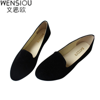 Hot Selling Large Size 35 42 Classic Candy Color Ladies Shoes Fashion Wild Pointed Toe Flat