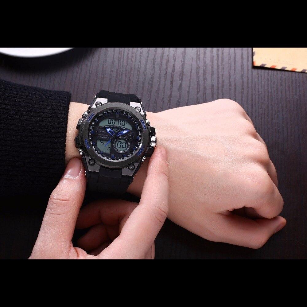 Amuda Men Quartz Wristwatches Fashion Causal Sport Watch Auto Date 30M Waterproof Clocks Relogio Masculino Male Brand Watches