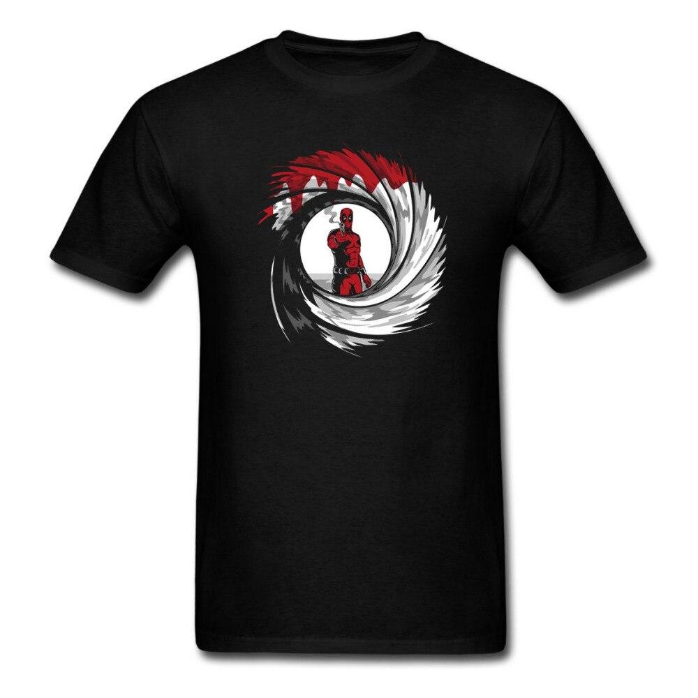DEADPOOL james bond 007 SHOT Logo T-shirt Grappig Tee euro maten-XXXL