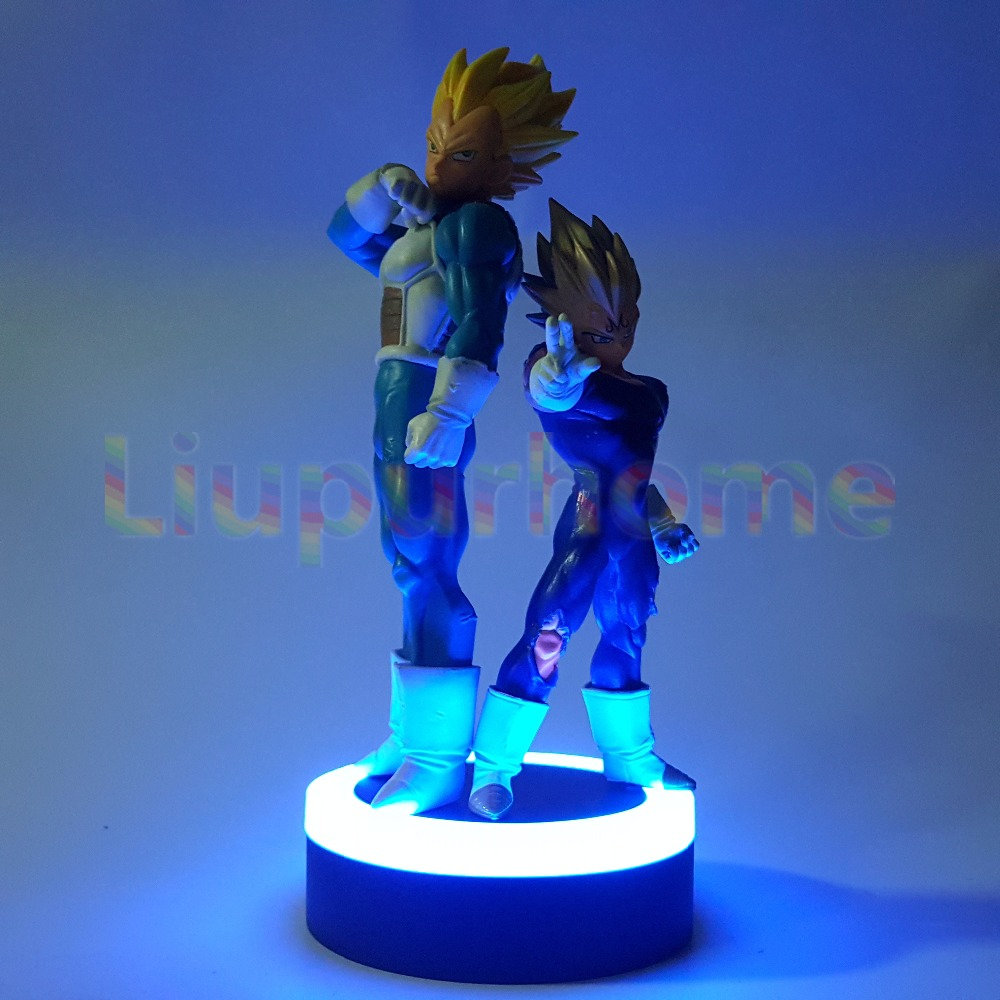 Dragon Ball Z Vegeta Set Led Night Lights Super Saiyan Diy Anime Dragon Ball Super Dbz Led Table Lamp Llampara Led Led Lamps