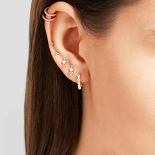 2018 new design tiny cute cz gift 925 sterling silver minimal minimalist lovely the second stud ear topper stud earring