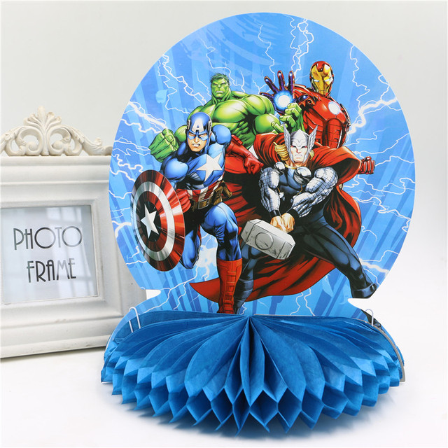 25cm Happy Birthday Honeycomb Centerpiece Party Table Decoration