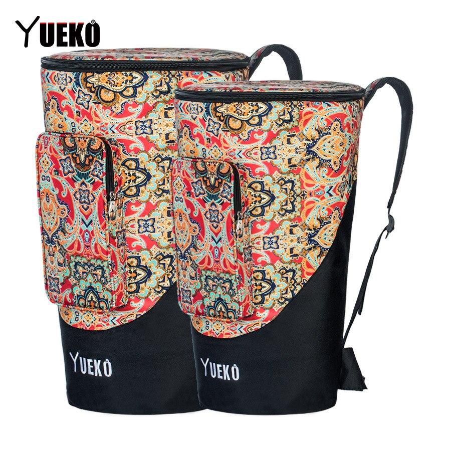 Sac de djembé YUEKO sangles d'épaule robustes sac de tambour africain de haute qualité et Durable Construction Triple couche 10/12 pouces
