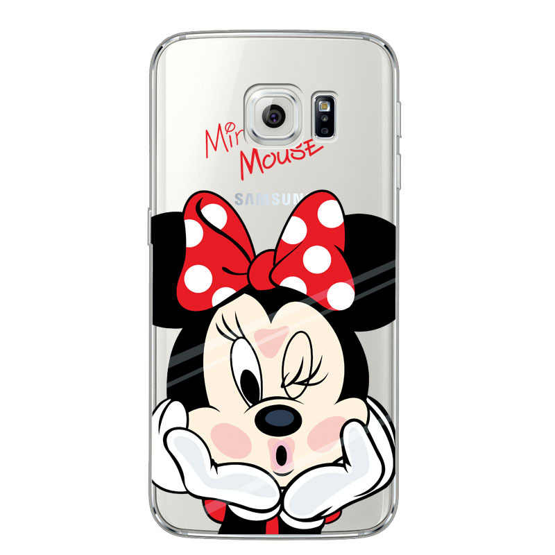 Untuk Samsung Galaxy S7 Case Mickey Minnie Case For Coque Samsung GALAXY Grand Prime S3 S4 S5 S6 S7 Edge s8 S9 Plus Cover