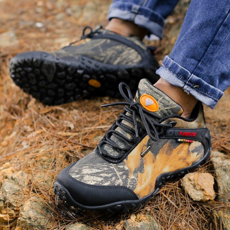 Купить с кэшбэком TANTU brand new waterproof canvas hiking shoes Anti-skid Wear resistant breathable fishing camping climbing rubber sole shoes
