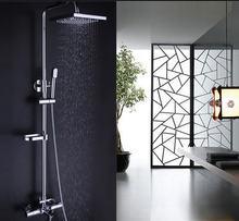 Набор для душа ванной комнаты латунный хромированный настенный