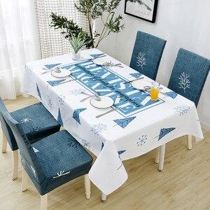 Image 5 - Parkshin 2019 Neue Nordic Deer Tischdecke Home Küche Rechteck Wasserdicht Tischdecken Partei Bankett Esstisch Abdeckung 4 Größe