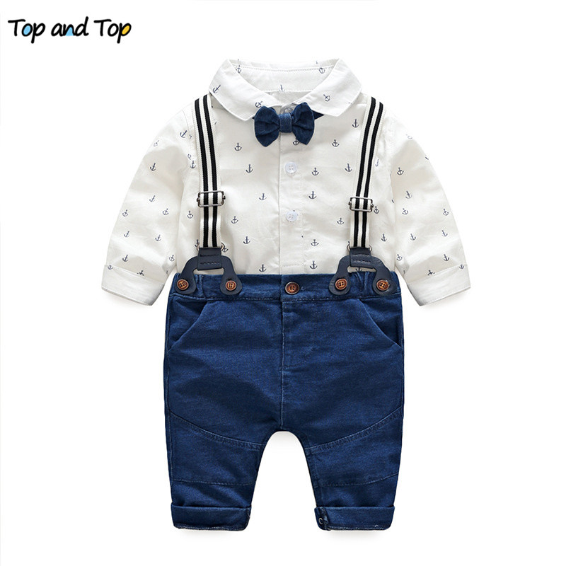 Top and Top spring baby clothes baby clothing set autumn long sleeve cotton bow tie baby rompers+pants 2pcs toddler clothes set top and top autumn baby boy clothes baby clothing set fashion cotton long sleeve t shirt pants newborn baby girl clothing set