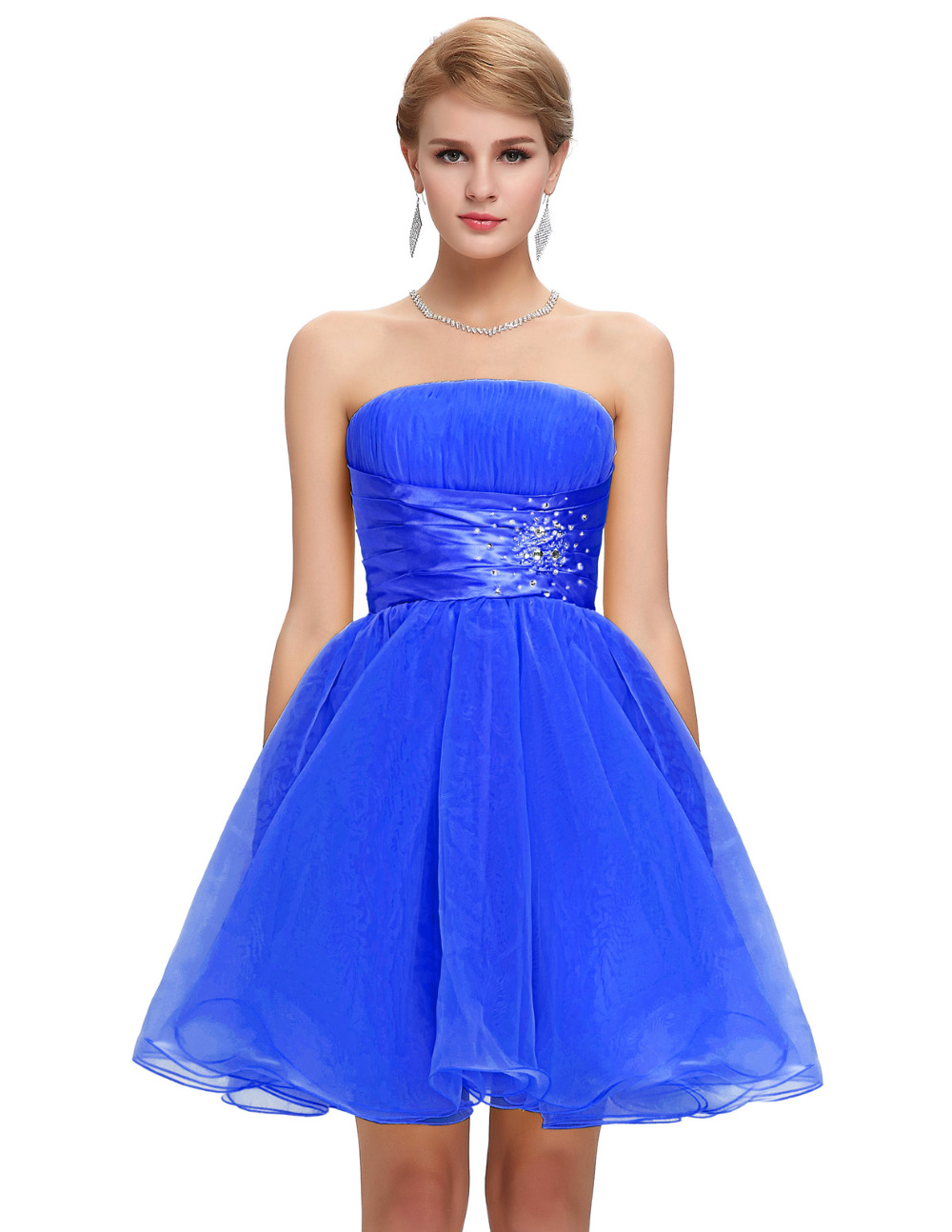 Cheap Short Strapless Dresses