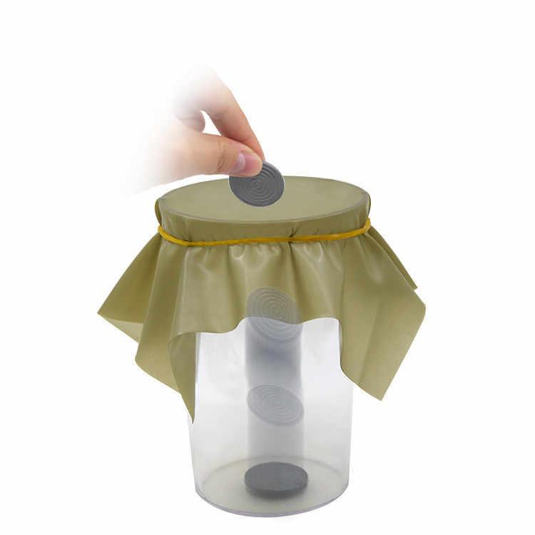 1 шт., волшебное отверстие, волшебный трюк, монета для проникновения, магический инструмент, блюдо, монета, прорезиненный лист в чашку, волшебный инструмент Иллюзия ментализма