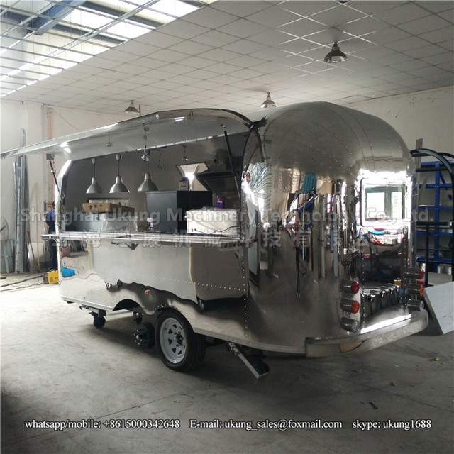 UKUNG AST 210 480cm With Range Hoods Stailess Steel Inside Airstream Food Trailer