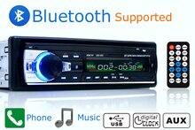 Nueva Radio de Coche Reproductor de Música Estéreo Bluetooth AUX-IN MP3 FM/USB/1 Din/mando a distancia Para El Iphone 12 V Smartphone Soporte de Audio del Coche Automático