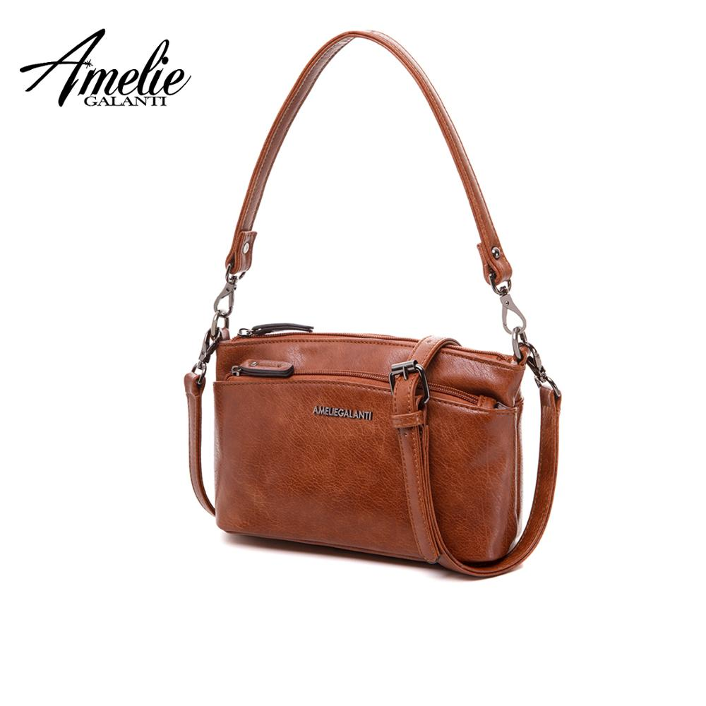 AMELIE GALANTI Ladies' small bag, casual fashionable practical suitable, for young girls, many pockets can carry and slant.