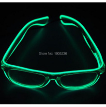 100pcs/lot EL Wire Glow Sun Glasses Eyewear Led DJ Bright Light Safety Light Up Multicolor Frame for Party Christmas Gift
