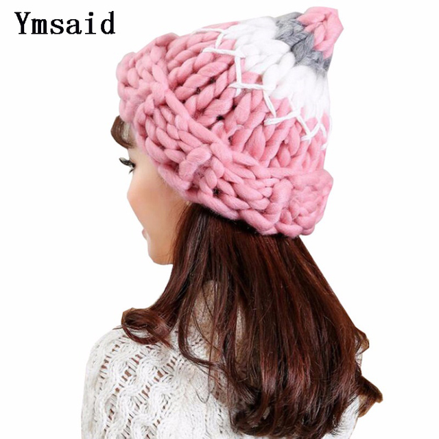2018 Autumn Winter Female Hats New Cotton Adult Casual Women Knitted Hat  Lady Color Thick Wool Keep Warm Wool Beanie For Girls b3852b53660